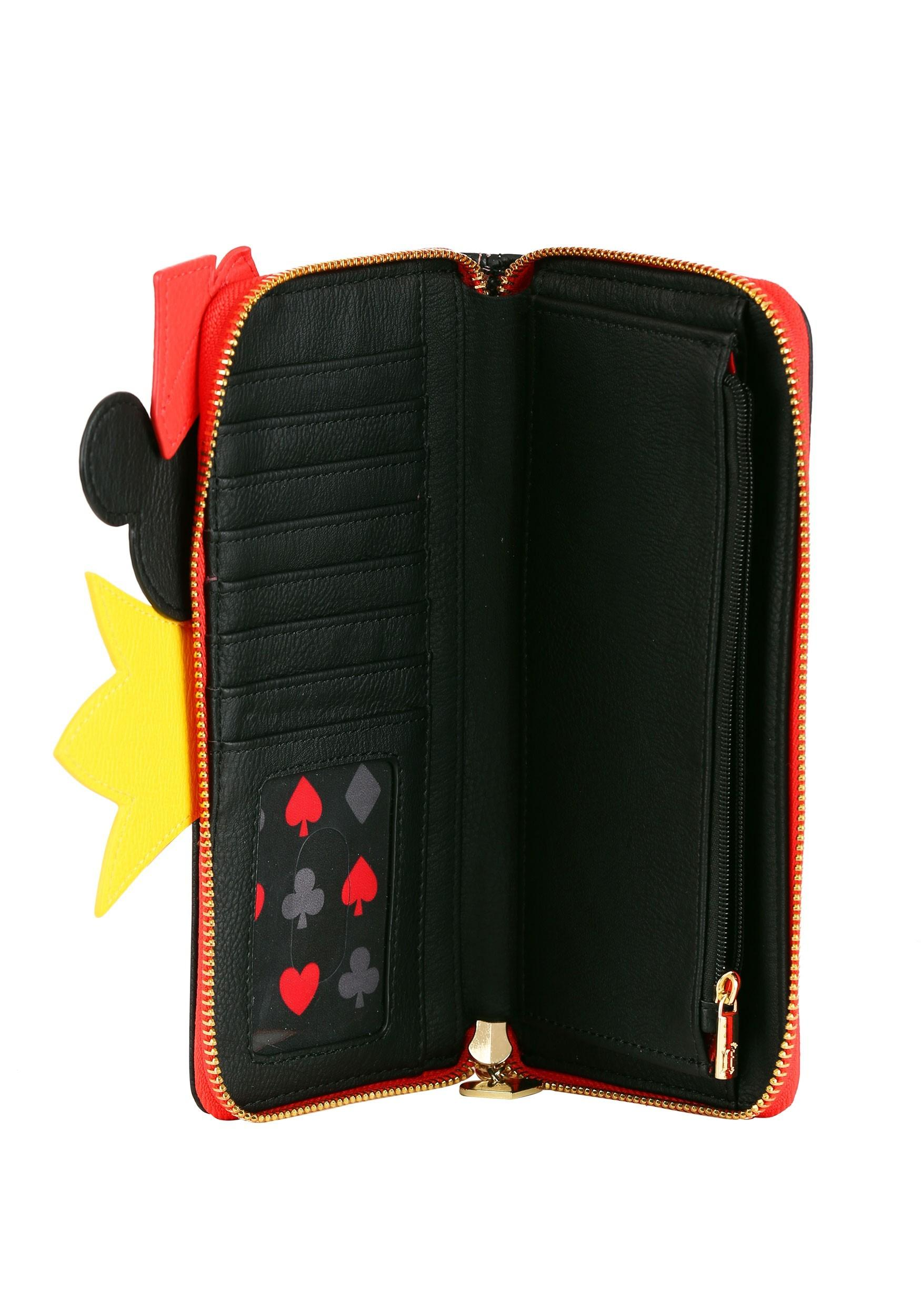Loungefly Disney Queen Of Hearts Faux Leather Zip Around Wallet