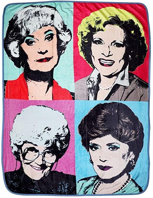 Just Funky Golden Girls Fleece Throw