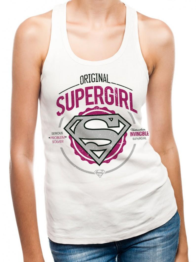 Supergirl - Original Fitted Vest White