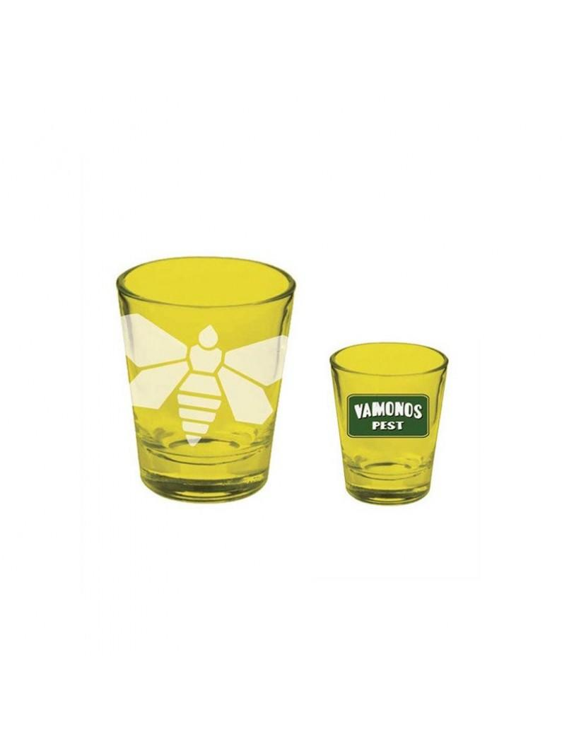 Breaking Bad Yellow Etched Moth Shotglass