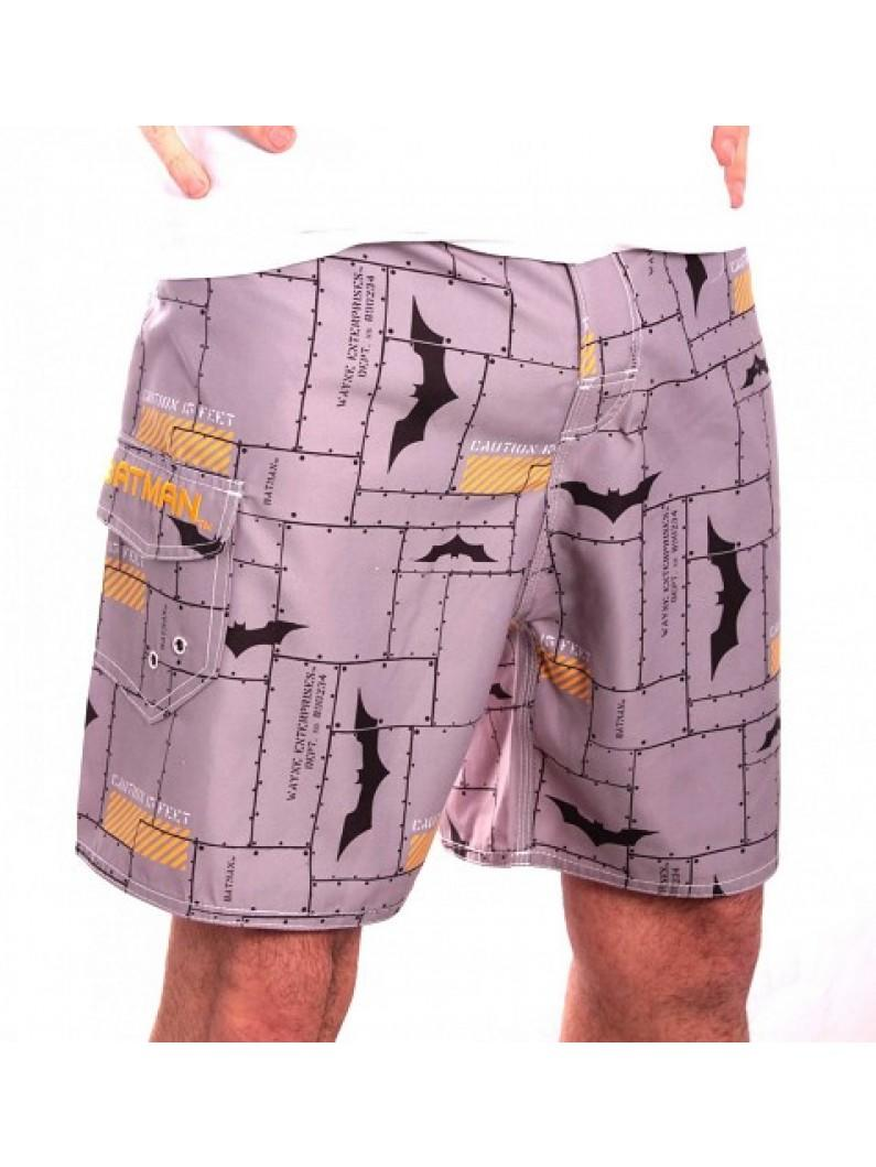 Batman - Bricks Men Swimshorts - Grey