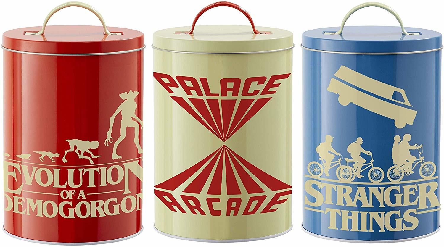 Stranger Things Retro Storage Tins
