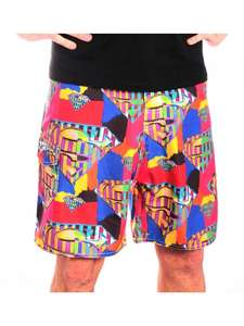 Superman - Abstract Logo Men Swimshorts - Multicolor