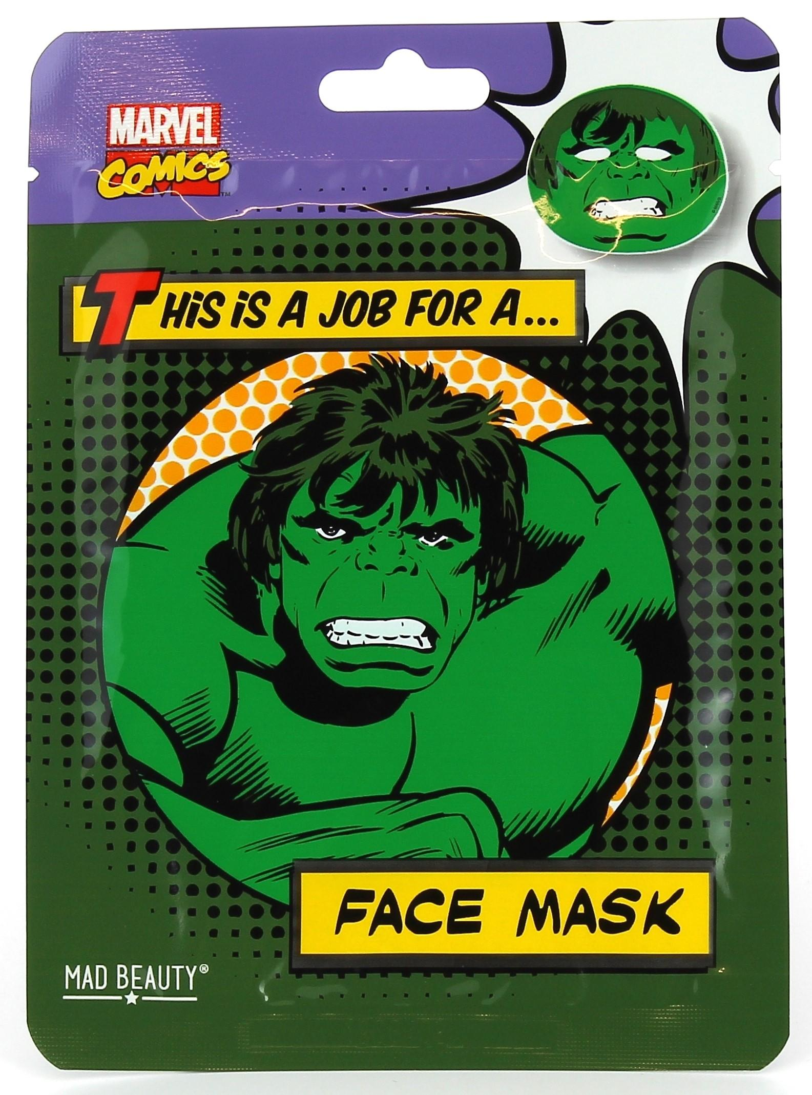Hulk Face Mask with Green Tea