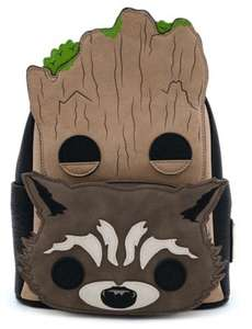 POP BY LOUNGEFLY MARVEL GROOT AND ROCKET BACKPACK