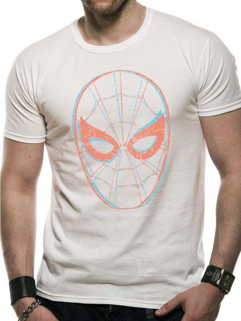 Spiderman - Face  T-Shirt White