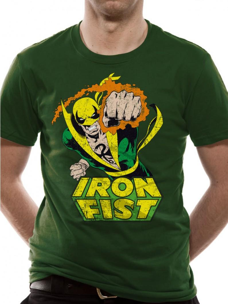 Marvel - Iron Fist T-Shirt FOTL BOTTLE GREEN
