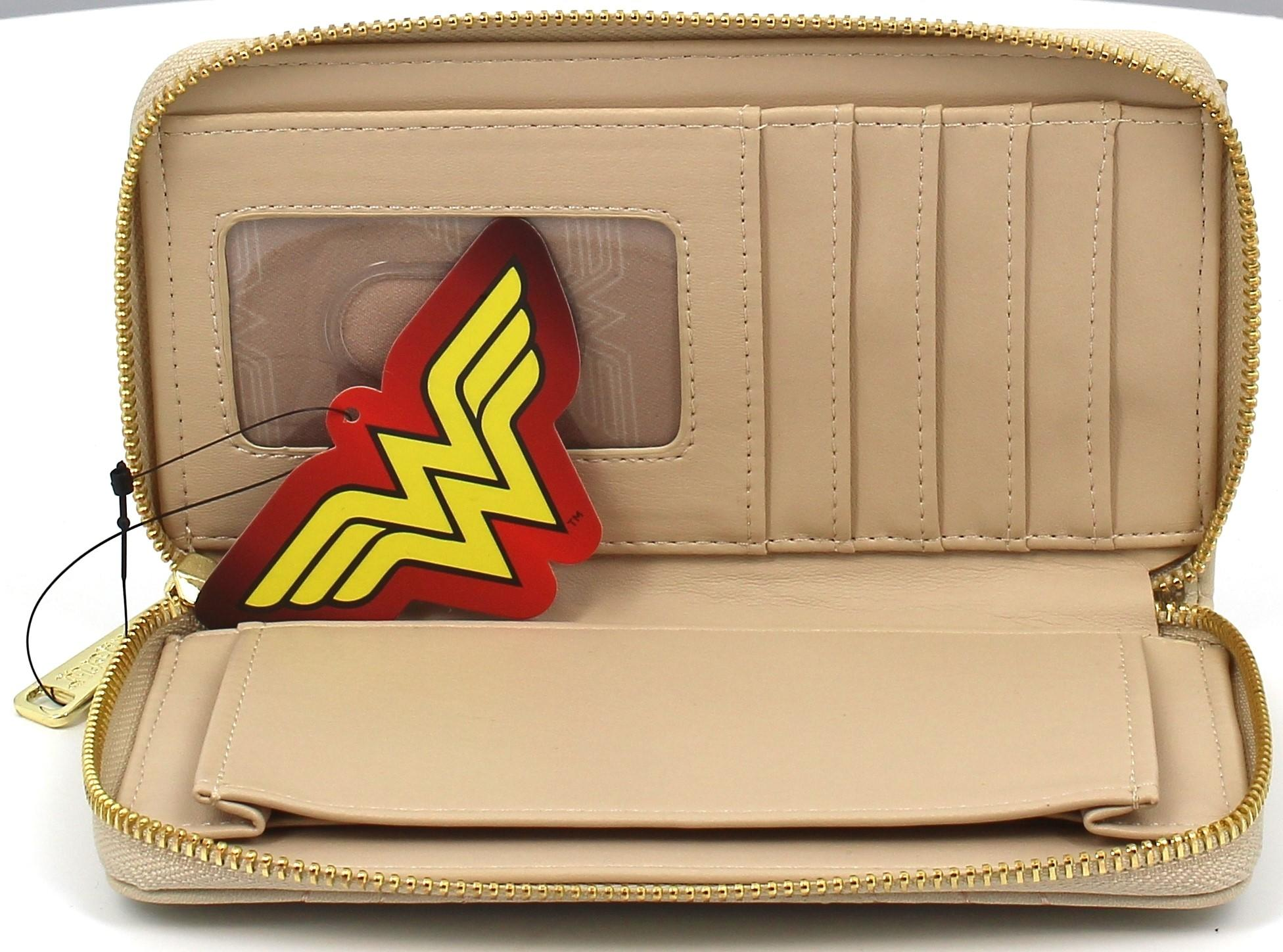 Loungefly Wonder Woman Cream Quilted Faux Leather