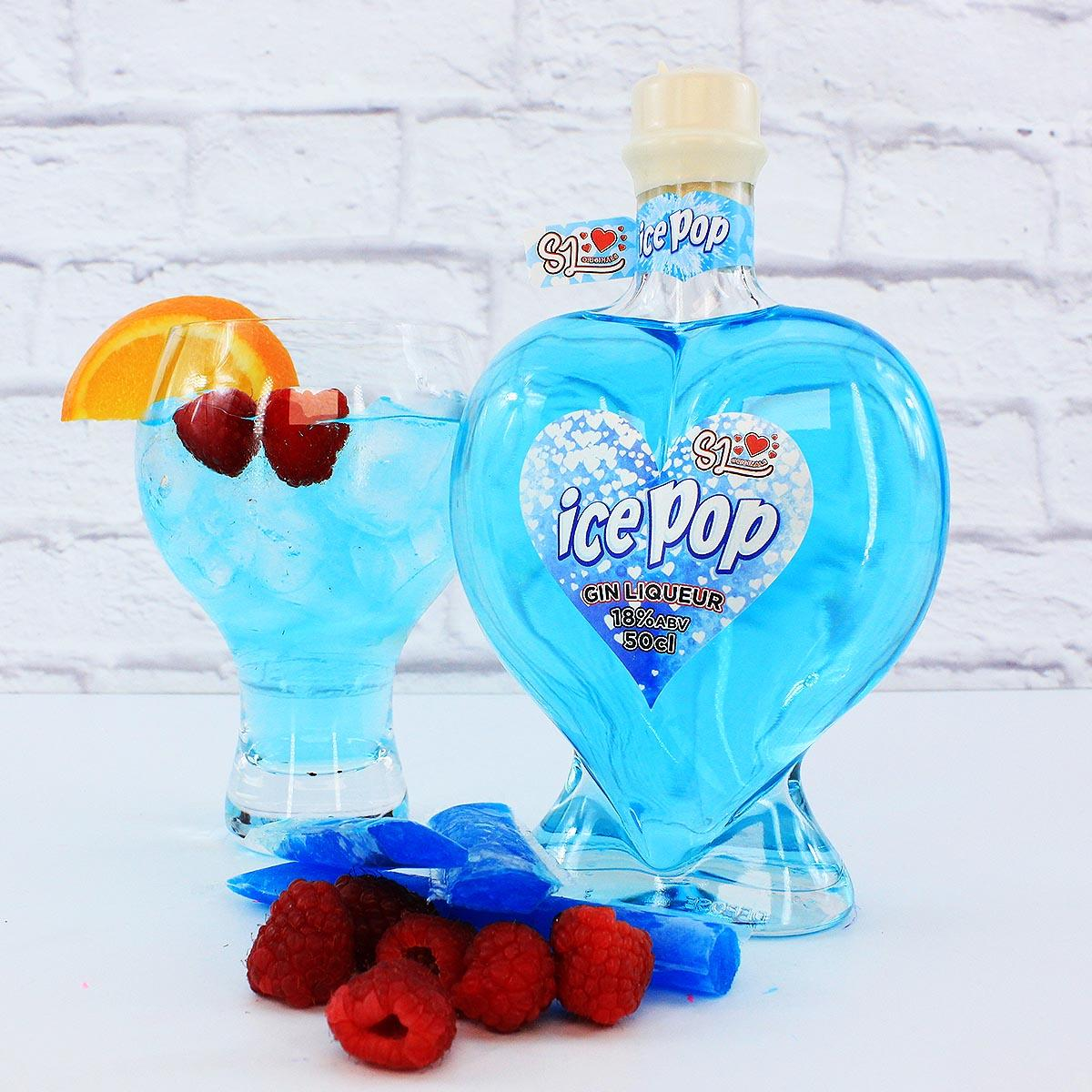 Sweet Little Ice Pop Blue Raspberry Gin Liqueur 50cl