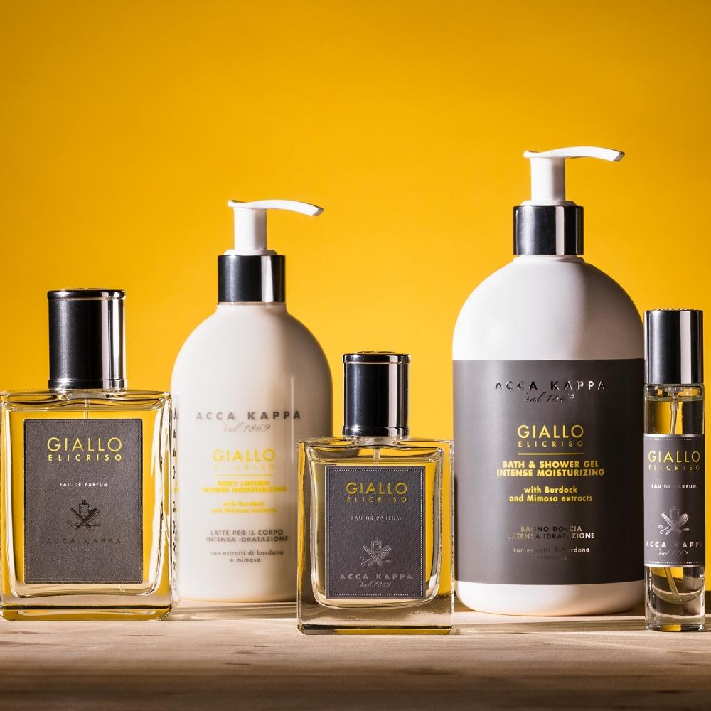 The Giallo Elicriso Eau de Parfum with new Shower Gel and Body Lotion