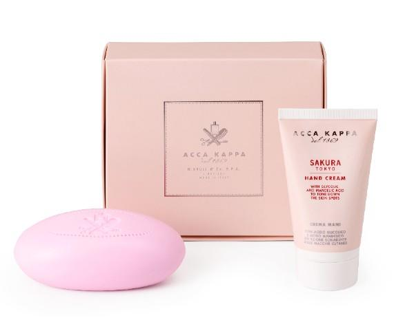 Sakura Tokyo Gift Set with Vegetable Soap and Hand Cream