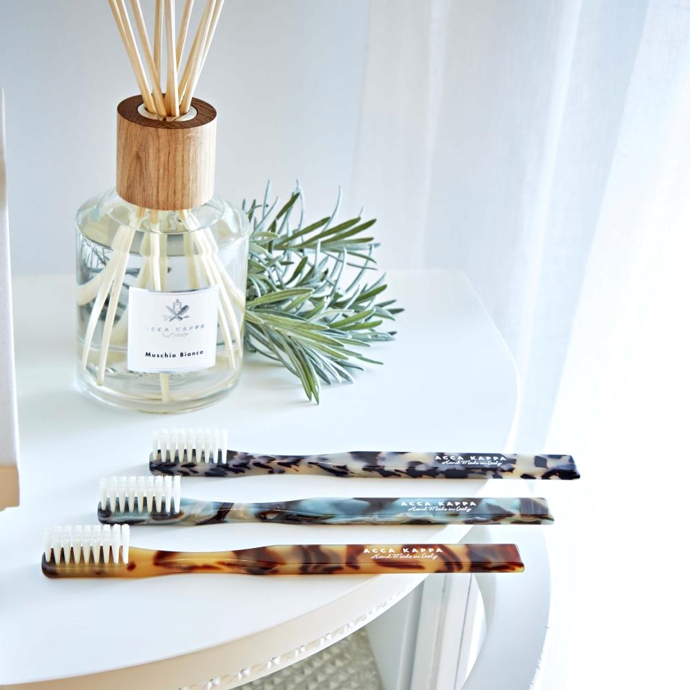 Pictured: The Historical Collection Toothbrushes by ACCA KAPPA