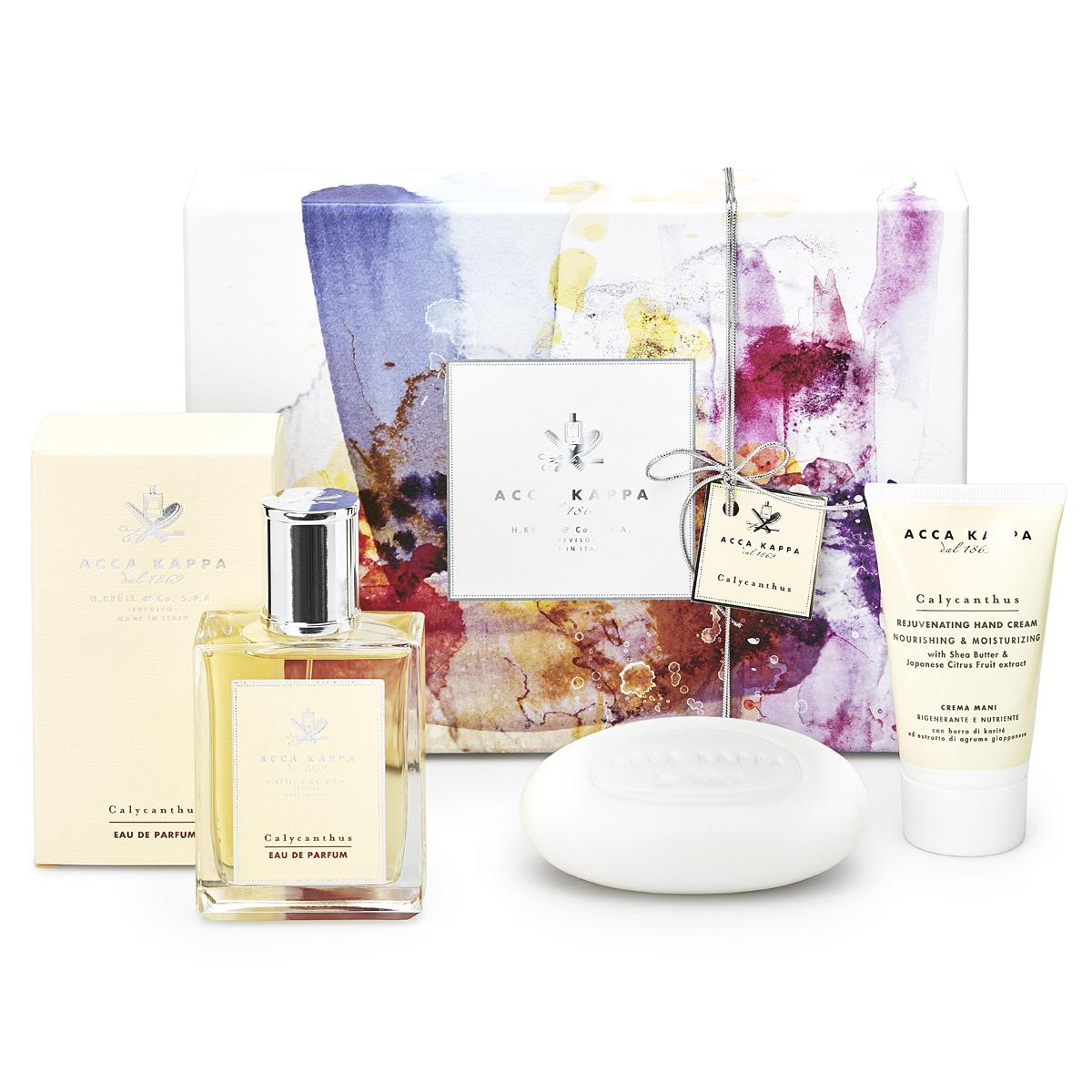 ACCA KAPPA Calycanthus Gift Set, Eau de Parfum 100ml, Soap 150g, Hand Cream 75ml