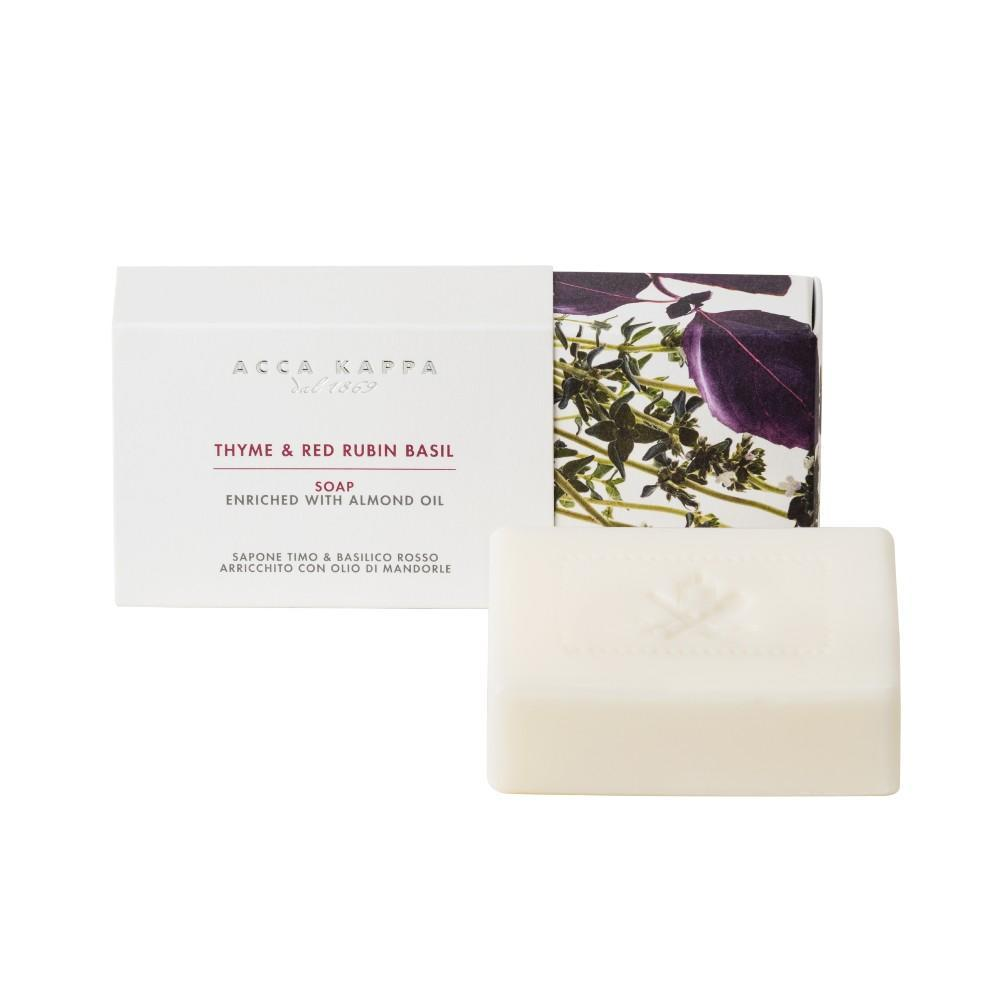 Pictured: Thyme & Red Rubin Basil Soap by ACCA KAPPA