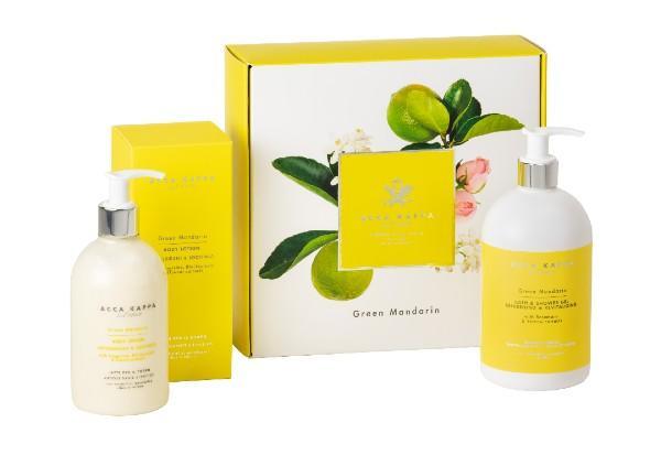 Sunny, bright Green Mandarin Gift Set with Bath/Shower Gel & Body Lotion