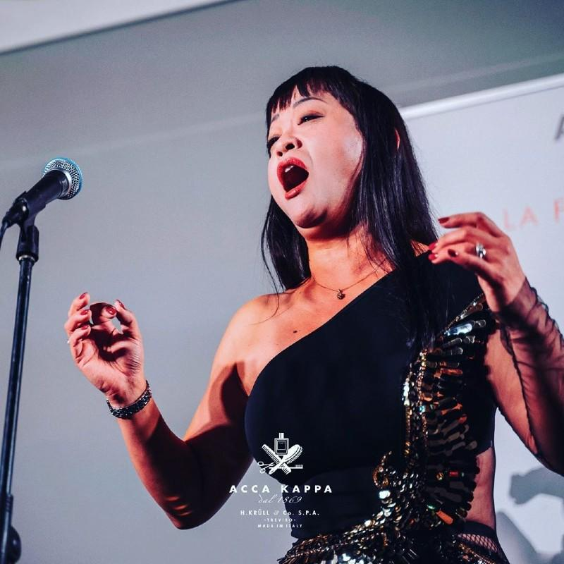A magical evening; a colleague who happens to be a talented opera singer gives a moving performance