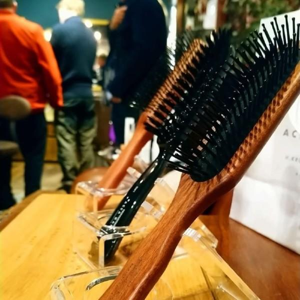 Men's Acca Kappa Hairbrushes on Display at Fortnum & Mason, Piccadilly