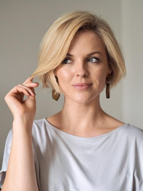 Model Ali Bailey, with her trademark blonde bob