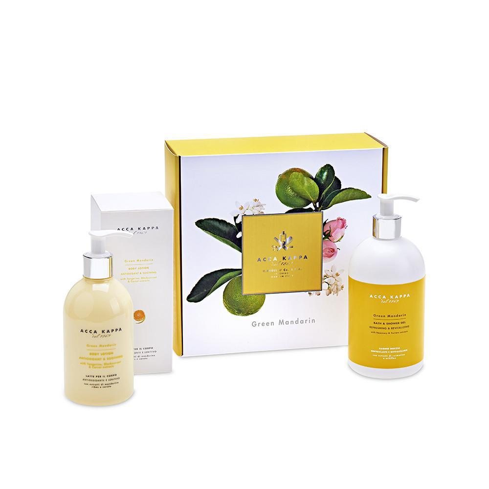 ACCA KAPPA Green Mandarin Gift Set, Shower Gel 500ml, Body Lotion 300ml