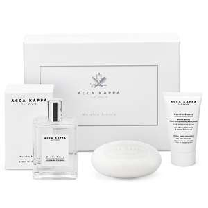 ACCA KAPPA White Moss Gift Set of Eau de Cologne 100ml, Soap 150g and Hand Cream 75ml
