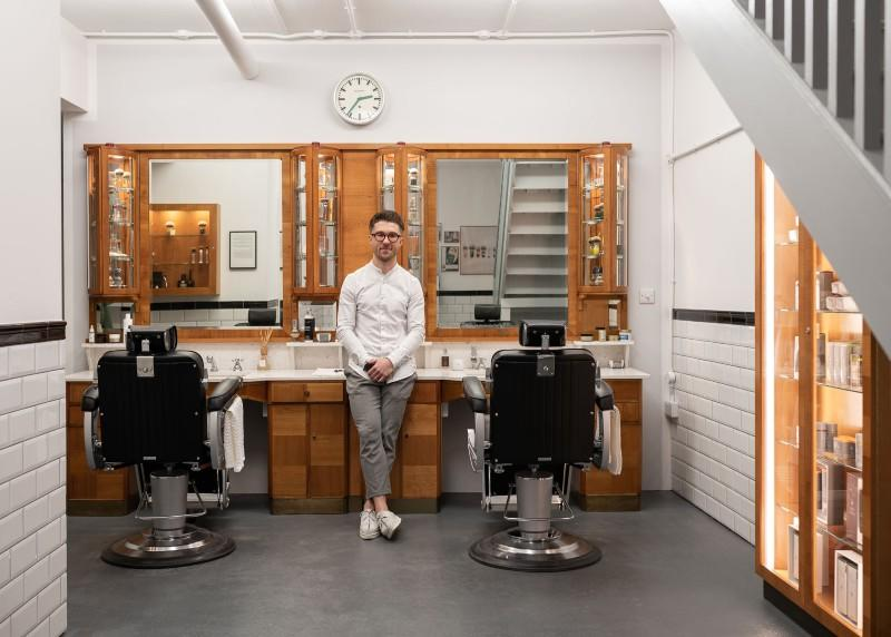 Head Barber Elliot Forbes, in MÜHLE Treatment Space, 14a Newburgh Street, Carnaby London