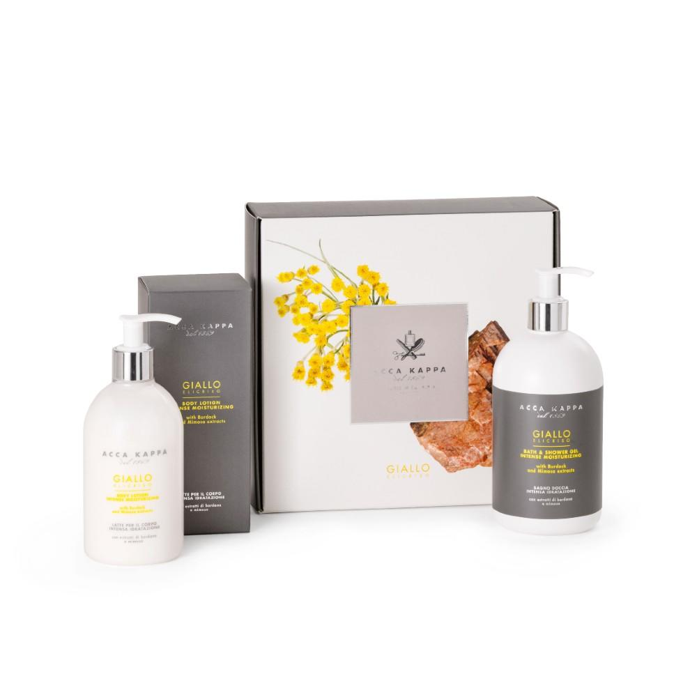 New to the Acca Kappa Collection, Giallo Elicriso Gift Set with Shower Gel and Body Lotion