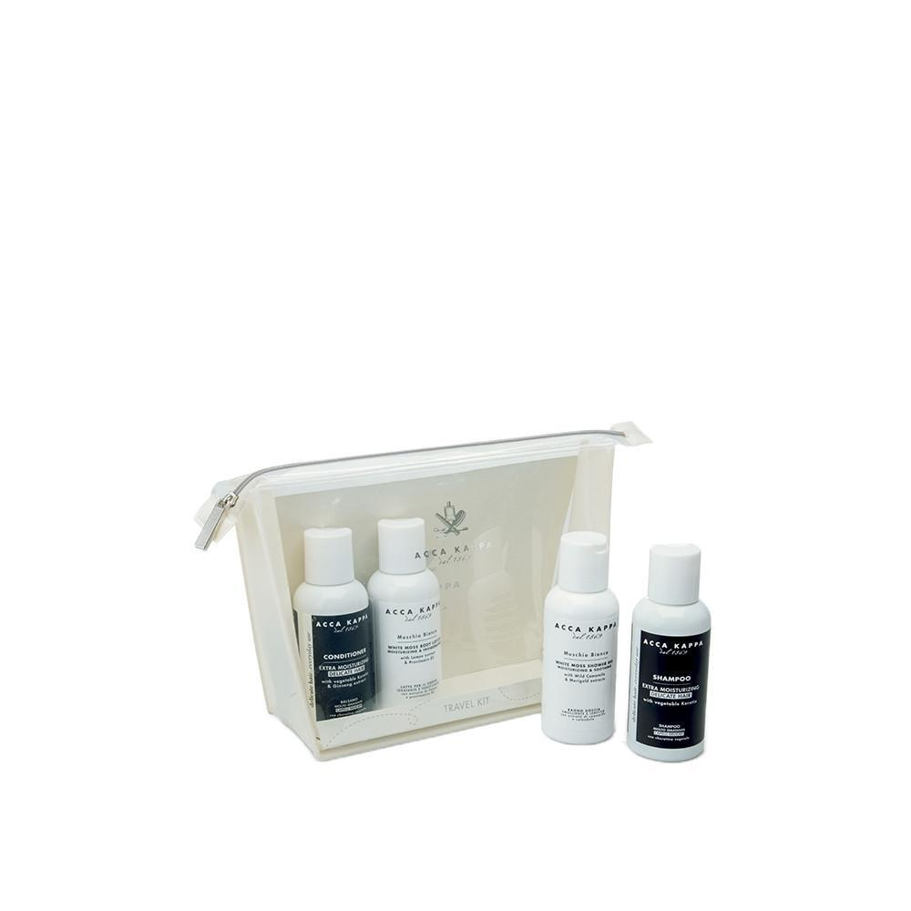 ACCA KAPPA White Moss Travel Set, Shower Gel 100ml, Shampoo 100ml, Conditioner 100ml, Body Lotion 100ml