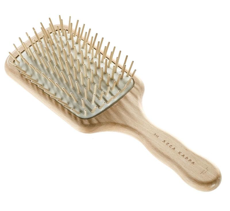 The ACCA KAPPA Pneumatic Beechwood Paddle Brush with Wooden Pins