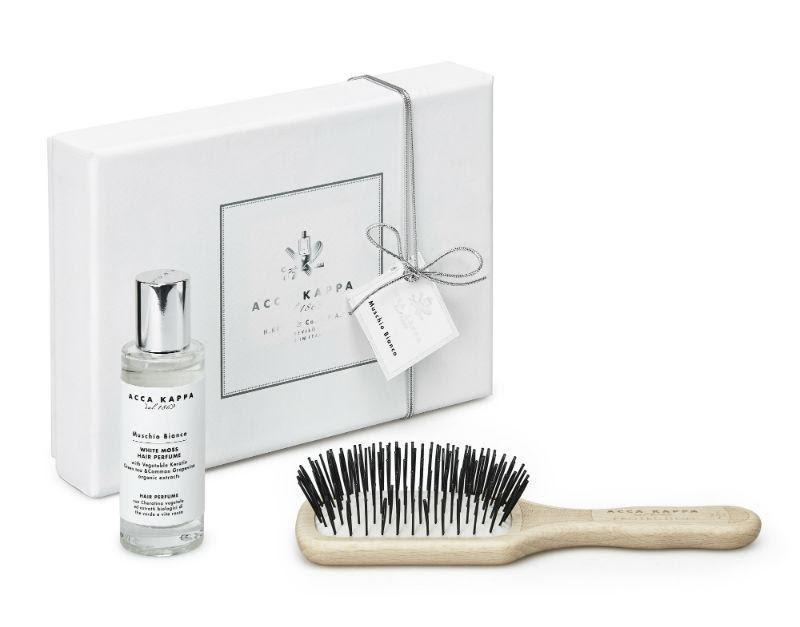 White Moss Gift Set, including White Moss Hair Perfume 30ml, Beechwood Protection Hair Brush (Travel Size)