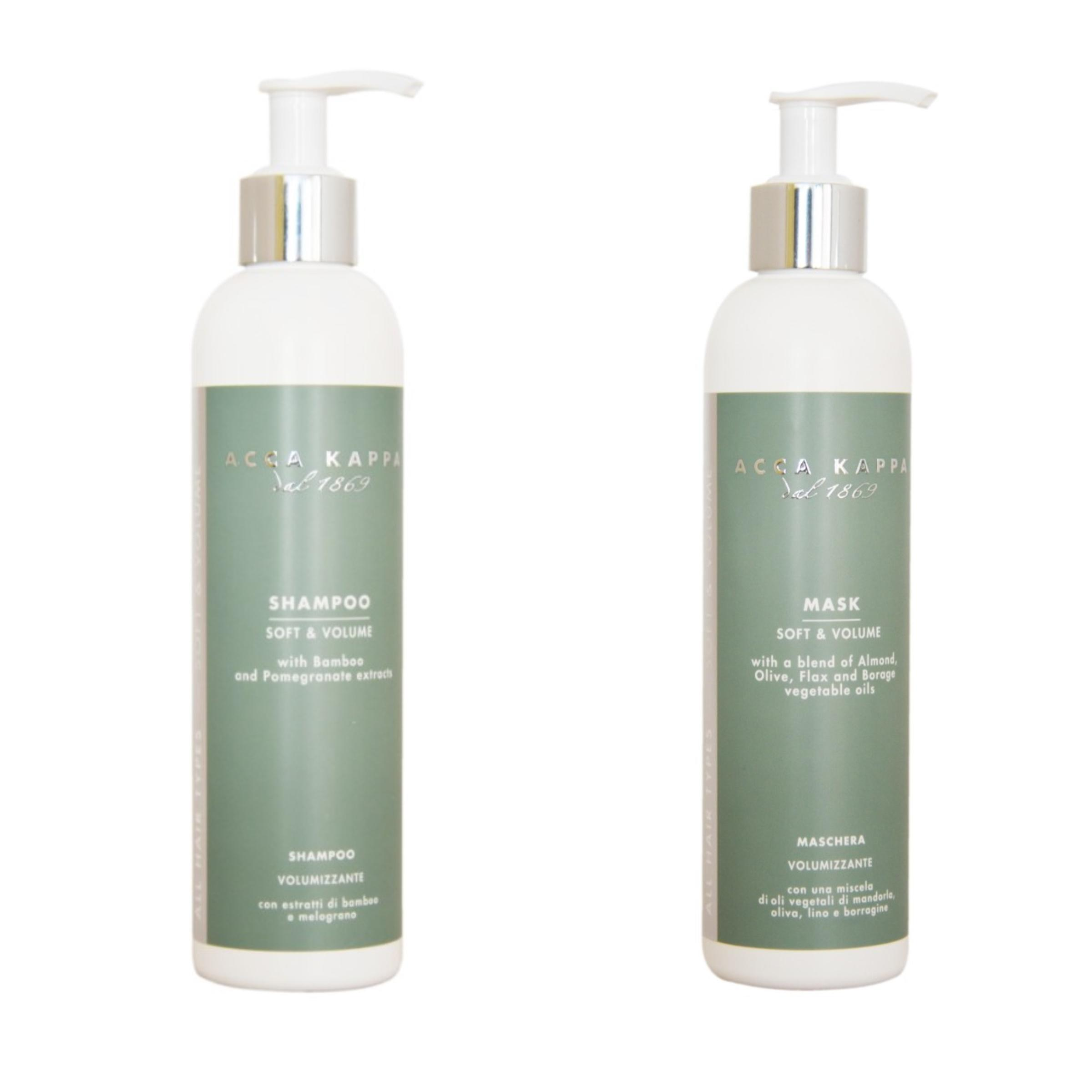 The Soft & Volume Shampoo and Conditioner/ Mask by ACCA KAPPA
