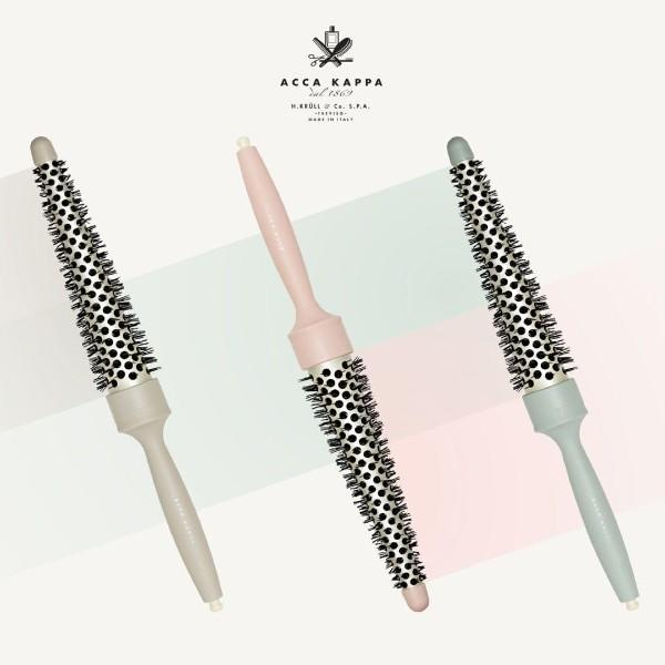 Wavy Styling Brush for Creative Styling in cream, pastel pink & blue