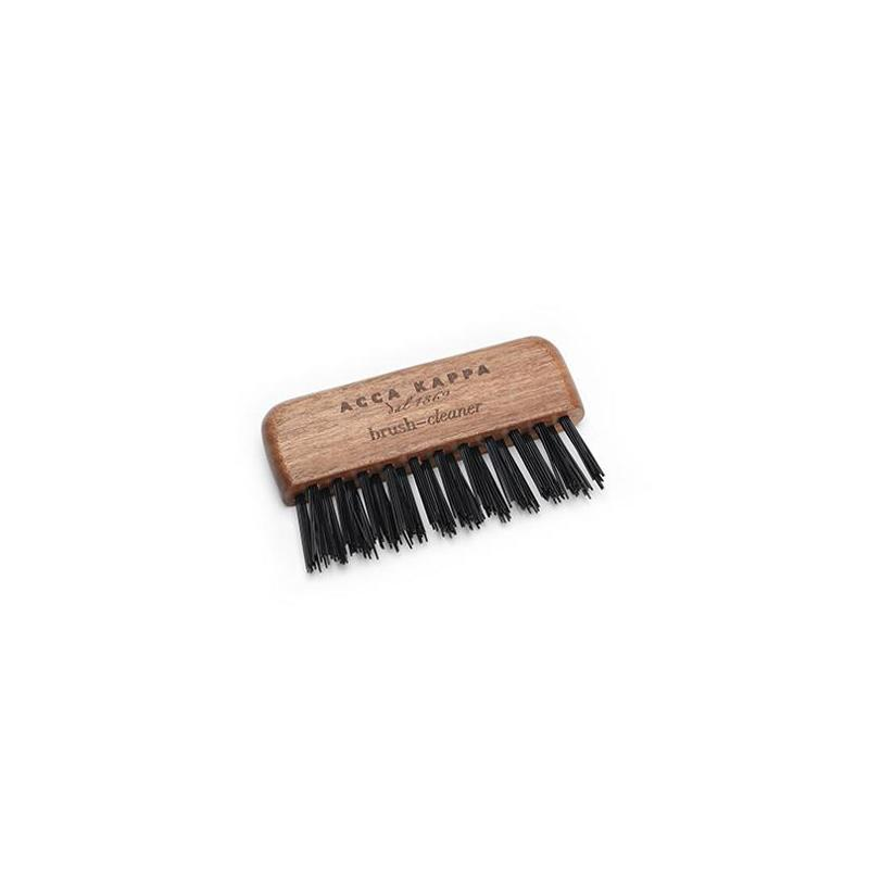 ACCA KAPPA Kotibe Wood Brush and Comb Cleaner with Black Nylon
