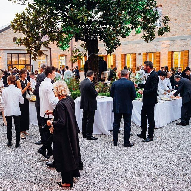 Guests arrive in the beautiful acca kappa courtyard