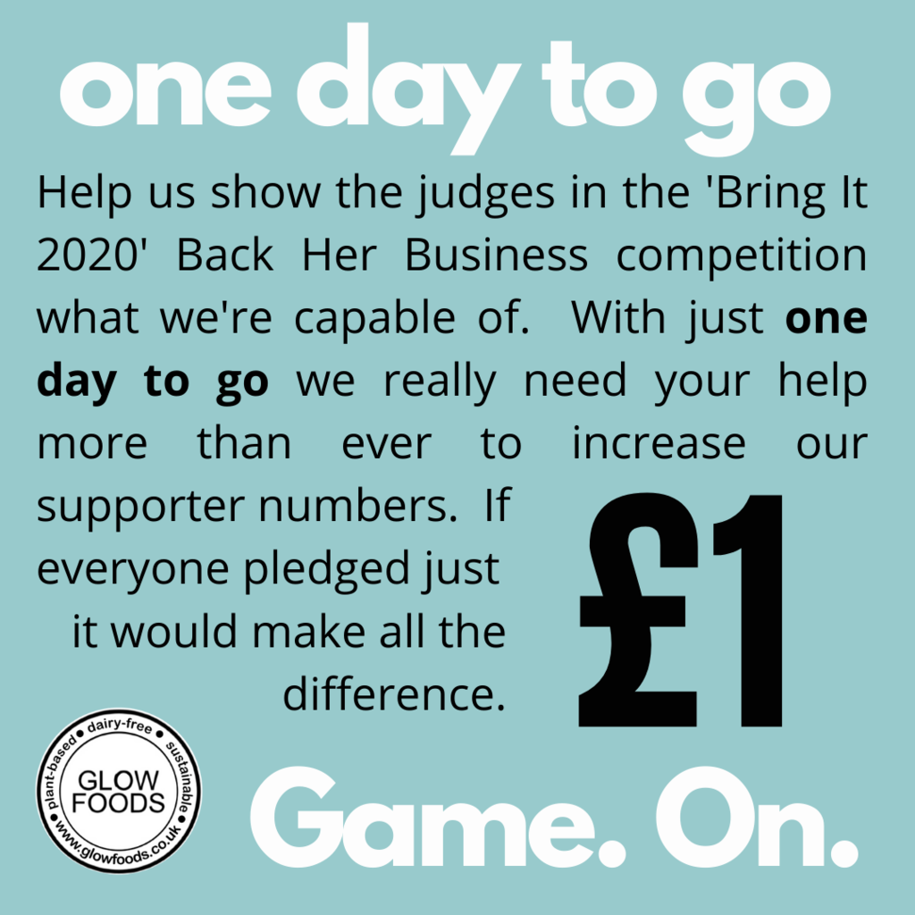 Our Crowdfunder closes tomorrow at 1pm!  Let's do this!
