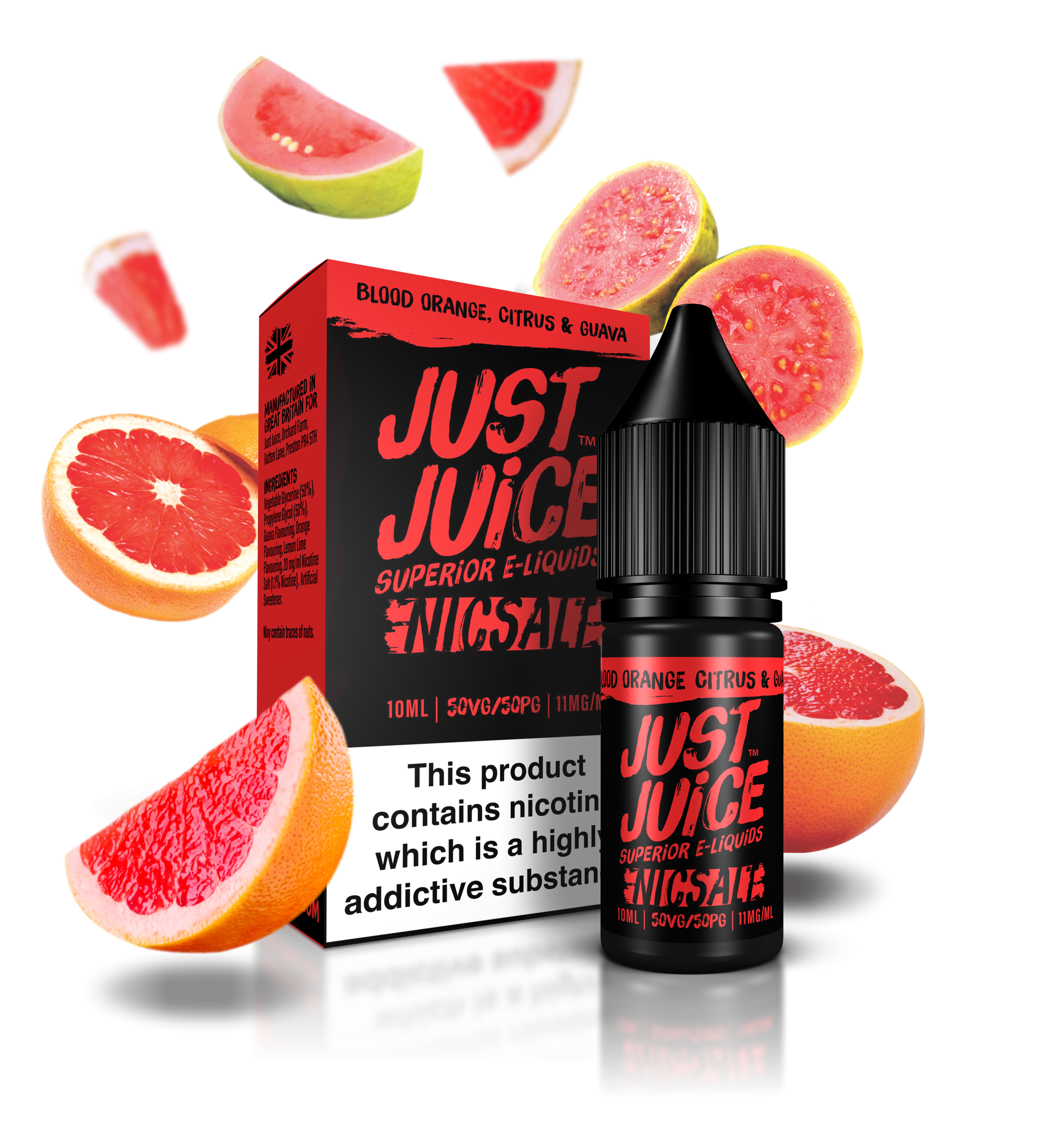 Just Juice Blood Orange, Citrus & Guava 10ml Nic Salt Vape Liquid