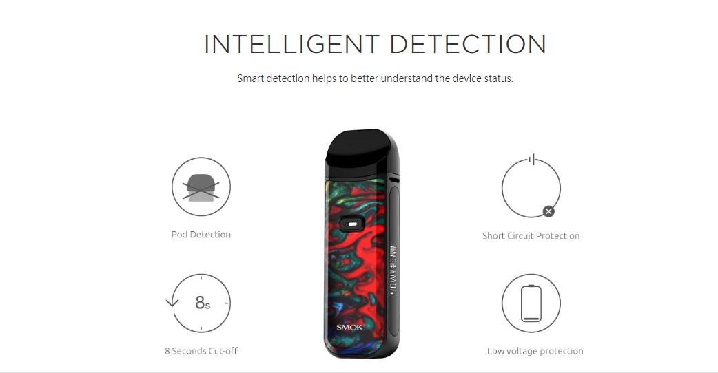 Smok Nord 2 Pod inteligent detection diagram