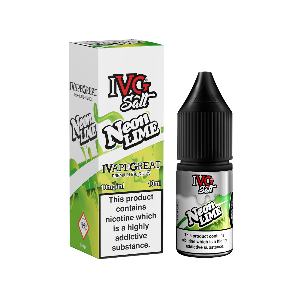 IVG Salt Neon Lime 10 e-liquid with nic salts