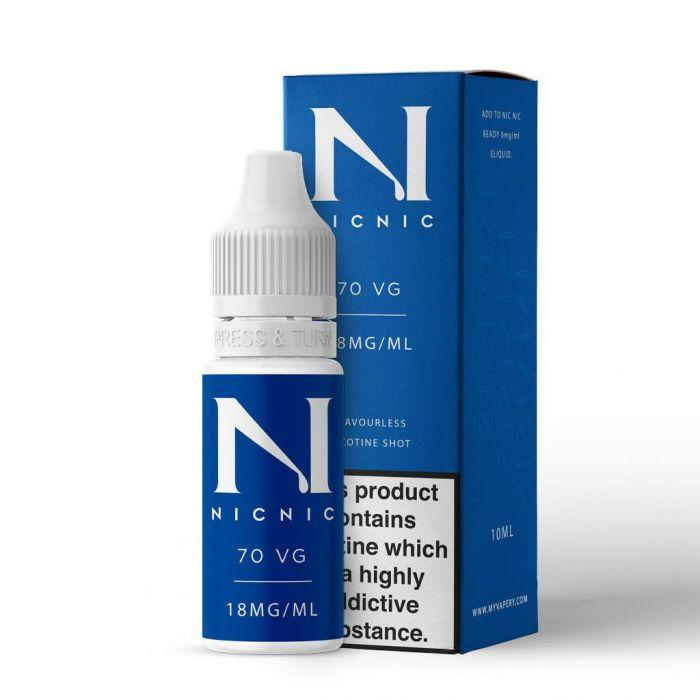 Nic Nic Nicotine Shot 18mg 70vg 10ml