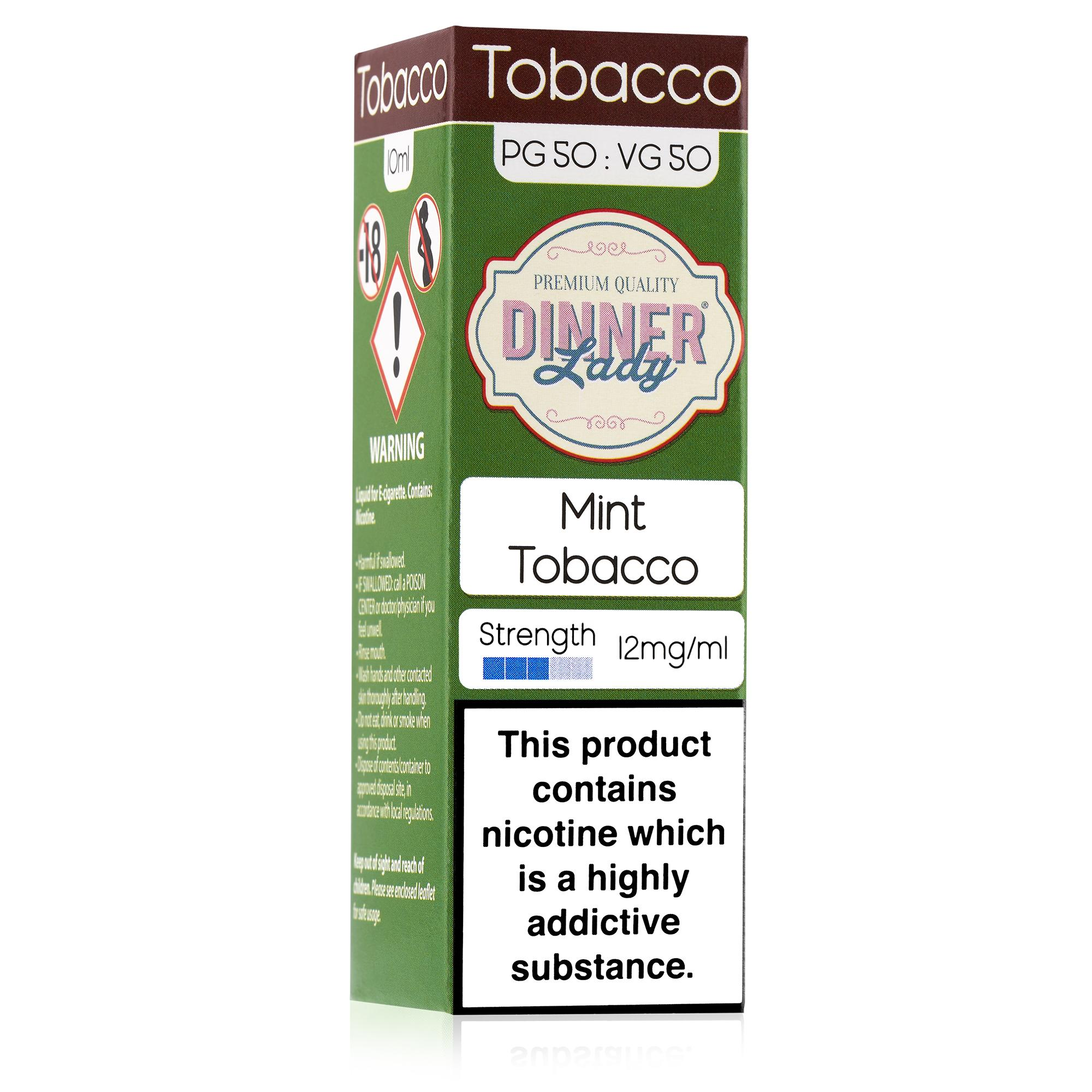 Dinner Lady 50:50 10ml Mint Tobacco E-liquid - Packaging