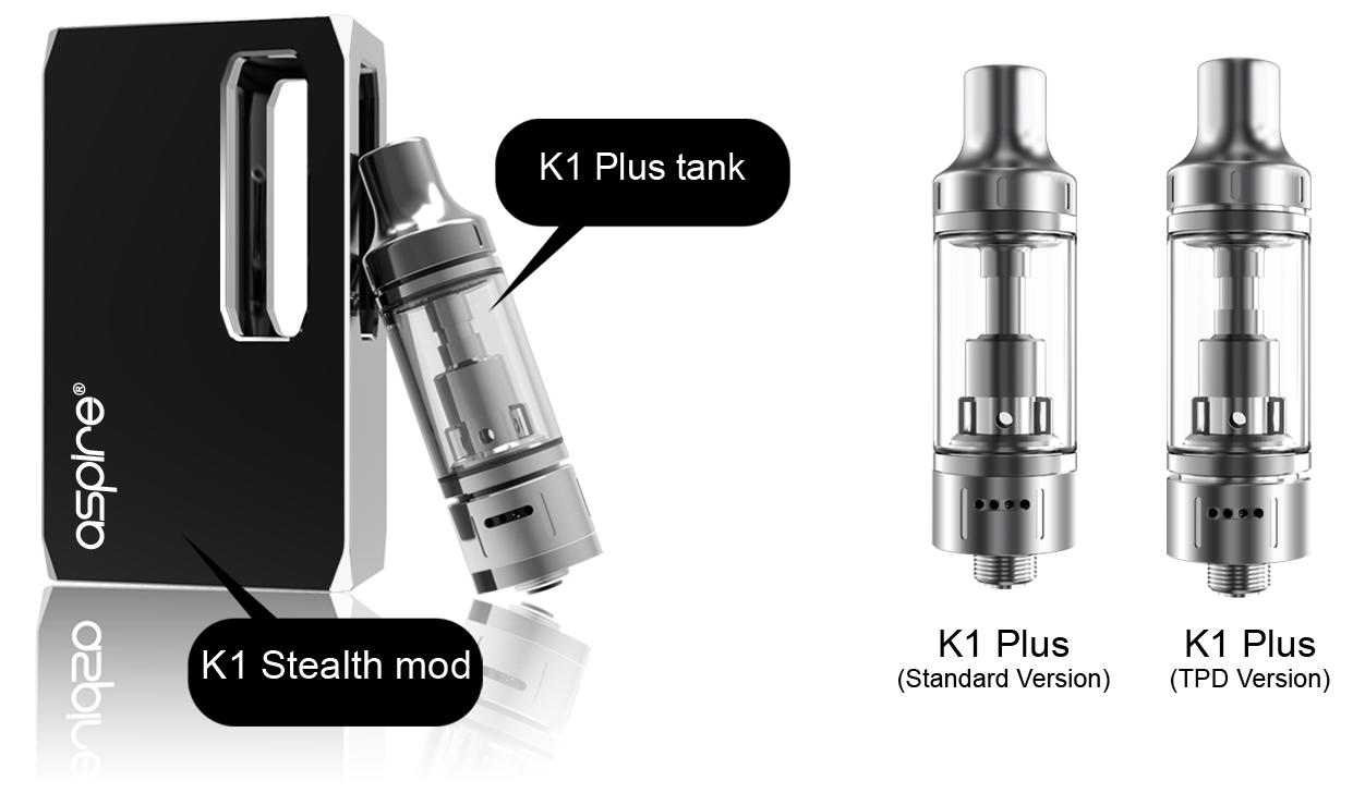 Aspire K1 Stealth tank diagram