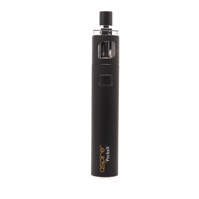 Aspire PockeX AIO in black available from Which Vape Ltd