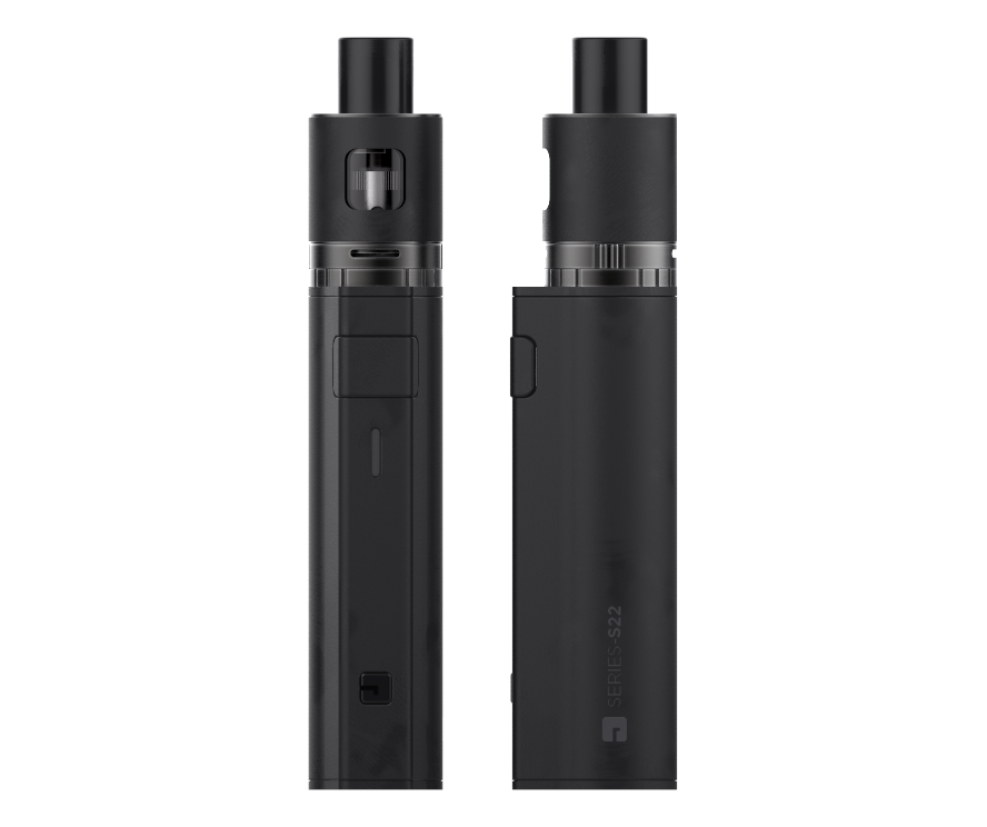 Jac Vapour S22 Vape PVD matt black edition front and side view
