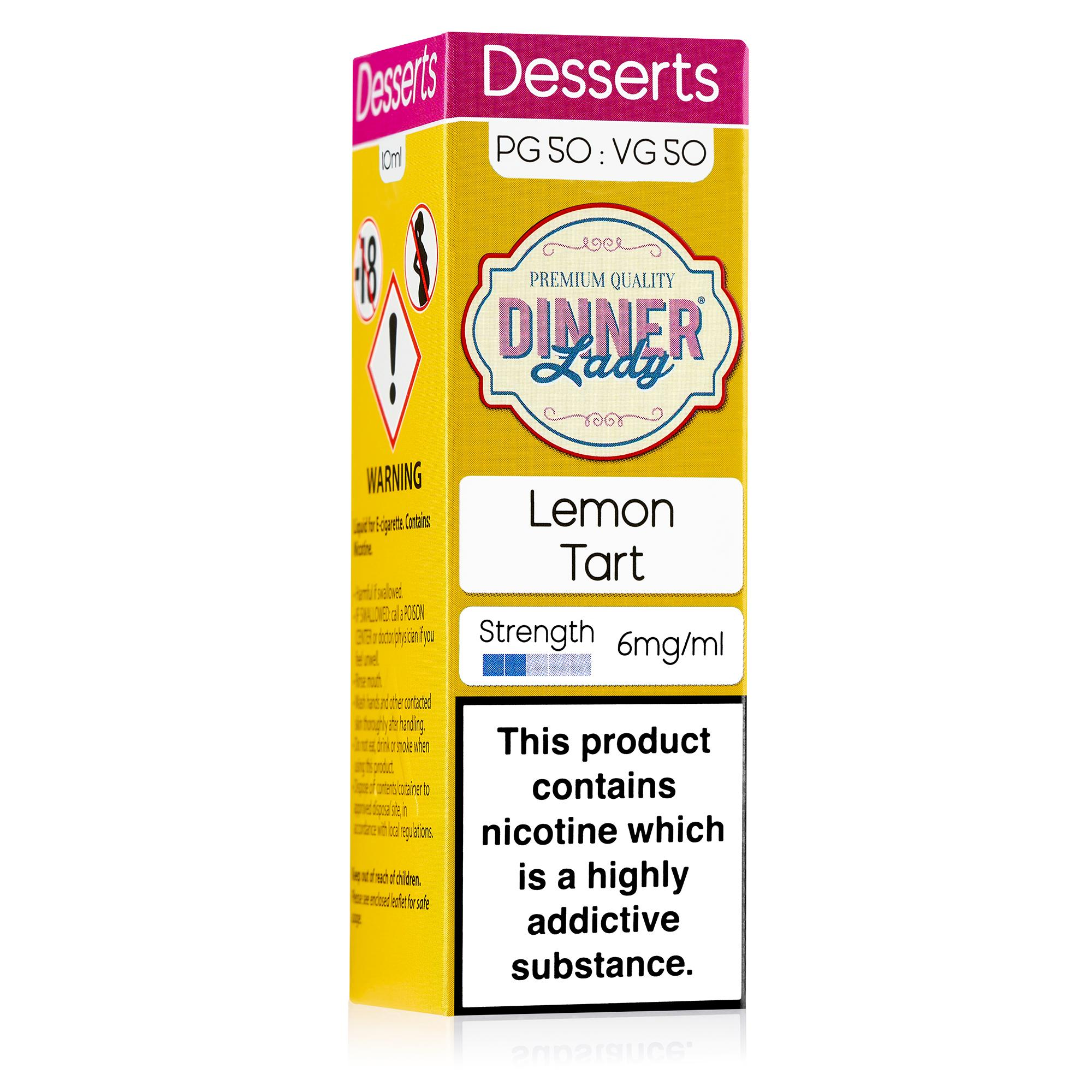 Dinner Lady 50:50 10ml Lemon Tart E-liquid - Packaging