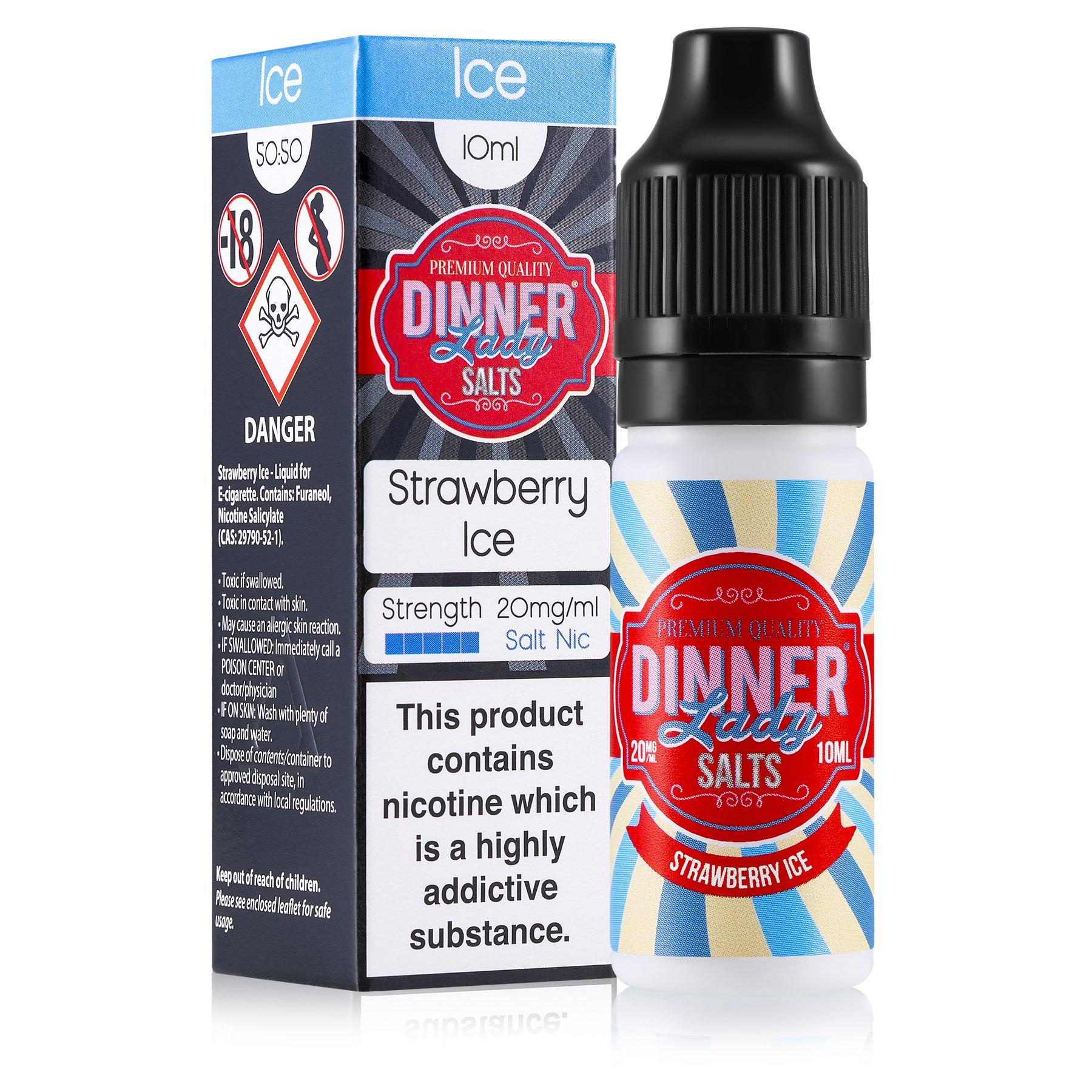 Dinner Lady Salt Nic 10ml Strawberry Ice e-liquid available from Which Vape Ltd