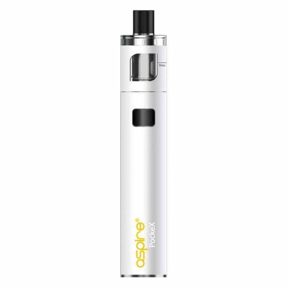 Aspire PockeX AIO in white available from Which Vape Ltd