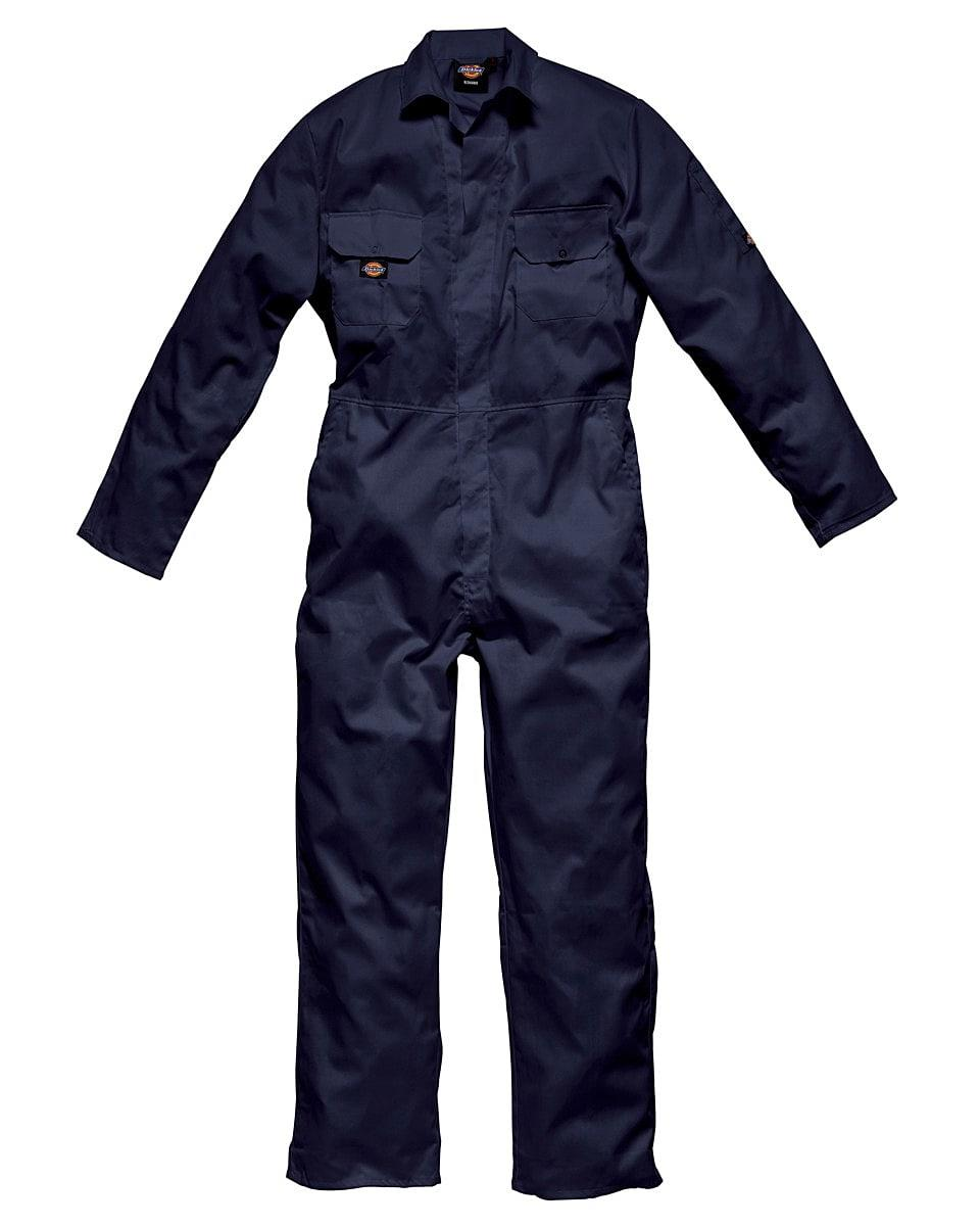 Dickies Redhawk Economy Stud Front Coverall Tall in Navy Blue (Product Code: WD4819T)
