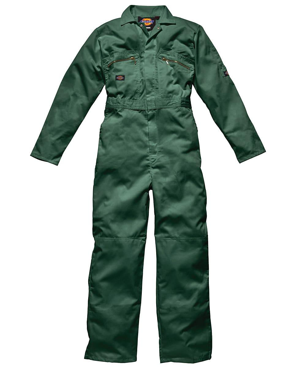 Dickies Redhawk Zip Front Coverall Regular in Bottle Green (Product Code: WD4839R)