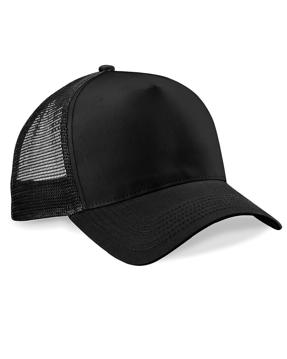 Beechfield Snapback Trucker Cap in Black (Product Code: B640)