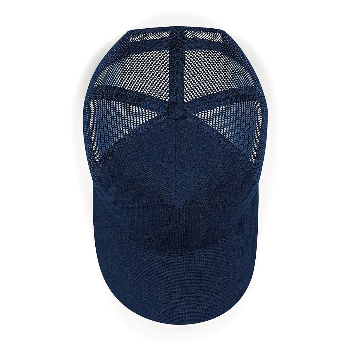 Beechfield Microknit Snapback Trucker Cap in French Navy (Product Code: B642)
