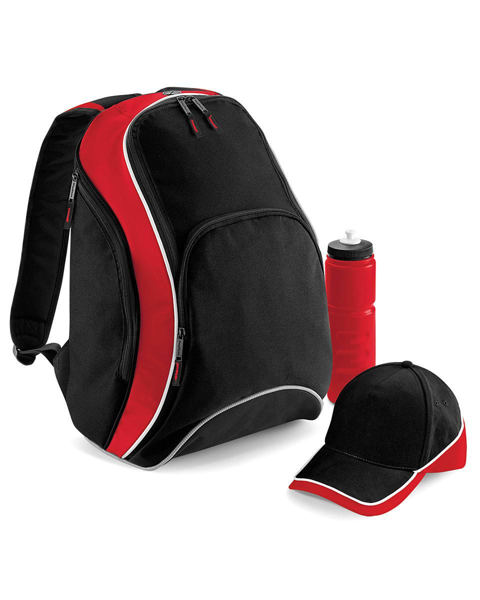 Bagbase Teamwear Backpack in Black / Classic Red / White (Product Code: BG571)